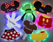Disney door magnets for cruise, personalized wooden door magnets with LED backlighting, sold individually