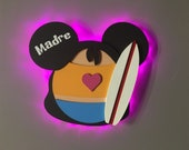Nani DCL Door Magnets made from wood with LED lights, Lilo and Stitch, Disney cruise door magnet