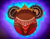 Black Panther Nakia Disney cruise door Magnet with LED Lights, Black Panther Minnie, Wakanda Warrior Magnet, Marvel Day at Sea Magnet