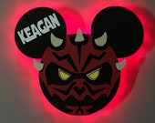 Darth Maul Star Wars Disney Cruise Door Magnets with Lights, Disney cruise door magnet, Star Wars Day at Sea, The Dark Side, The Force