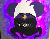 Ursula, Disney Villain Wooden Door Magnets with Lights for Disney cruise, Disney cruise door magnet, Under the Sea Magnet