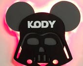 Darth Vader Star Wars Disney Cruise Line Wooden Door Magnets with Lights, Disney cruise door magnet