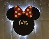Classic Disney Cruise Line Wooden Door Magnets with Lights, Disney cruise door magnet, Minnie Mouse door magnet