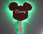 Ice Cream Bar Mickey Magnet, Disney Snack Magnets for Cruise Line Wooden Door Magnets with LED lights, Birthday Mickey Celebration