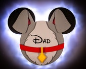 Lady and the Tramp, Disney Cruise Line Wooden Door Magnets with LED Lights, Disney cruise door magnet