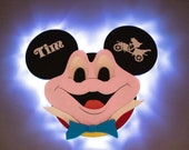 Mr. Toad Wooden Door Magnet with LED Lights, Mr. Toad Mickey for Disney Cruise Line, Mr. Toad's Wild Ride, Disney cruise door magnet