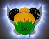 Tinkerbell Minnie Magnet with LED lights for Disney Cruise, Pixie Dust magnet, Neverland magnet, Tinker Fairy, Disney cruise door magnet