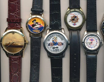 d2e8e5ba1f04 Rare Disney Cruise Lines Mickey Mouse Watch Collection Lot of 5