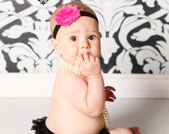 Black Ruffle Bloomers - Cake Smash - Birthday - Holidays - Party - Special Occasion - Celebration - Newborn Bloomer - Diaper Cover