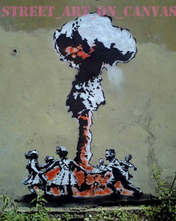 Banksy Whatever Boy Grafitti Giclee 16 x 20 Canvas Print Venne