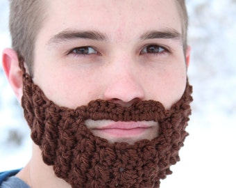 9347874617a More colours. 7 Colors! Adult Beard Face Warmer made from Crocheted Yarn ...