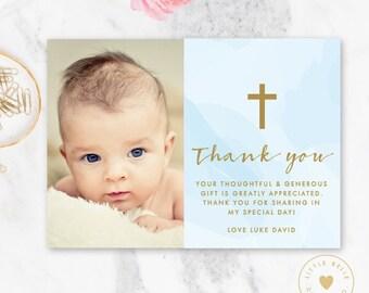 Baptism Thank You Card Girl Baptism Thank You Cards Etsy
