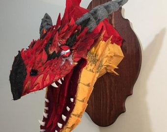 Mounted Mythical; Scarred Red Dragon