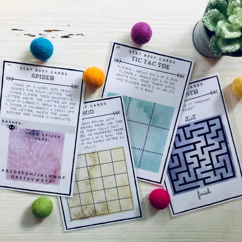 Travel Games for Kids Activity Cards Road Trip Games image 0