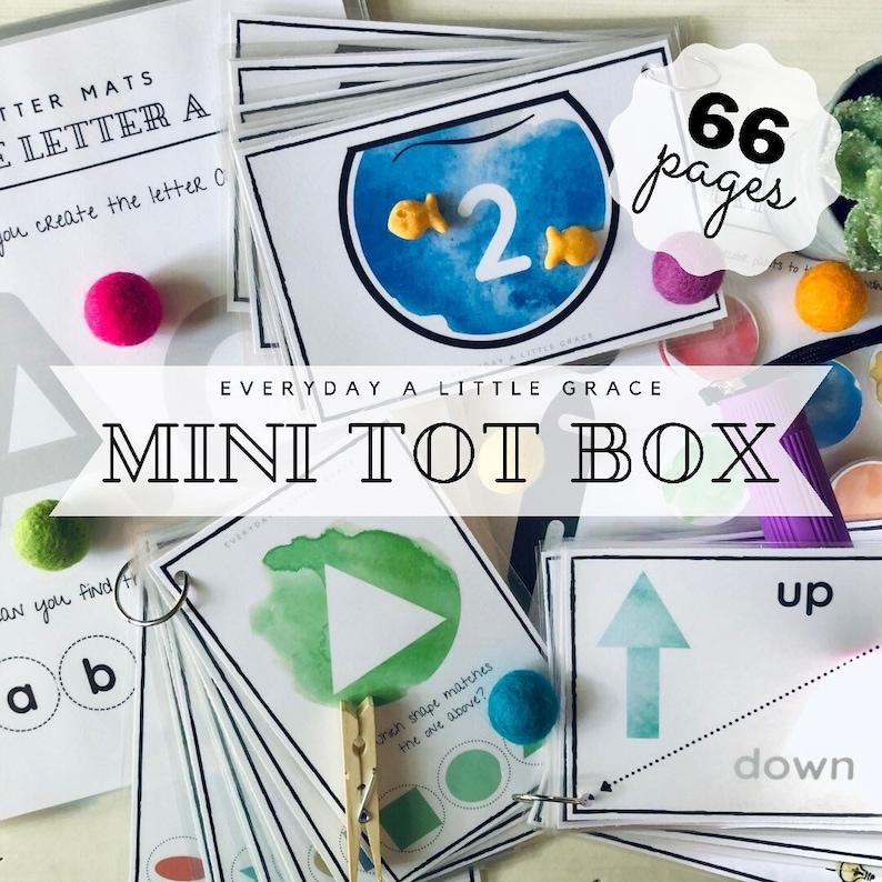 The MINI Tot Box Early Learning Bundle Preschool Printable image 0
