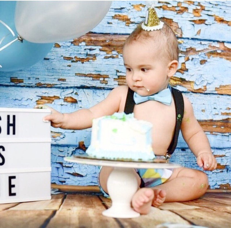 New Baby My 1st Birthday Bib First Boy Happy Birthday 1st Candle Party Hat