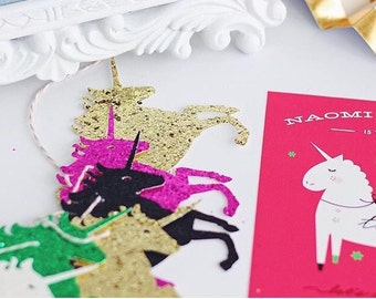 Muliti-color Unicorn Garland, Unicorn  Bannner, Unicorn Party,Unicorn Birthday,Glitter Bannner, Unicorn Party, Unicorn theme baby shower, Un