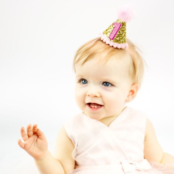 HOB First Birthday Hat Gold Hat1st