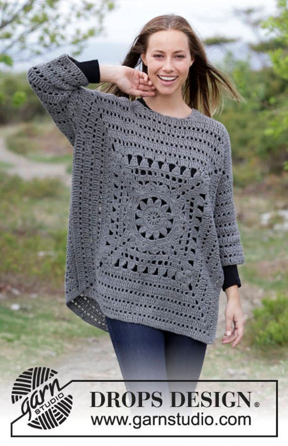 Ladies Sweater Wool Size Winter Sweater Pullover Gray Plus Handmade Hand Crochet Sweater Crochet Sweater Grey Women's AH0fqFw