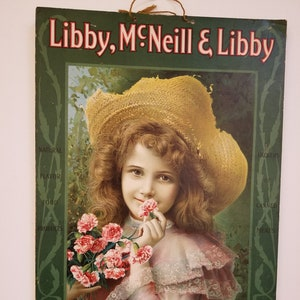 Vintage Repose Tin Litho Advertising Sign Bed Springs