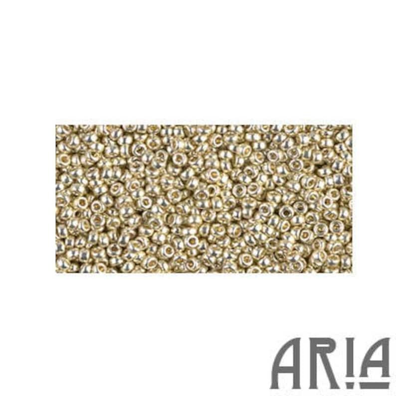 DURACOAT SILVER 4201: 15/o Miyuki Japanese Seed Beads 10 image 0