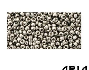 ANTIQUE SILVER (711): 11/o Toho Japanese Seed Beads (10 grams)