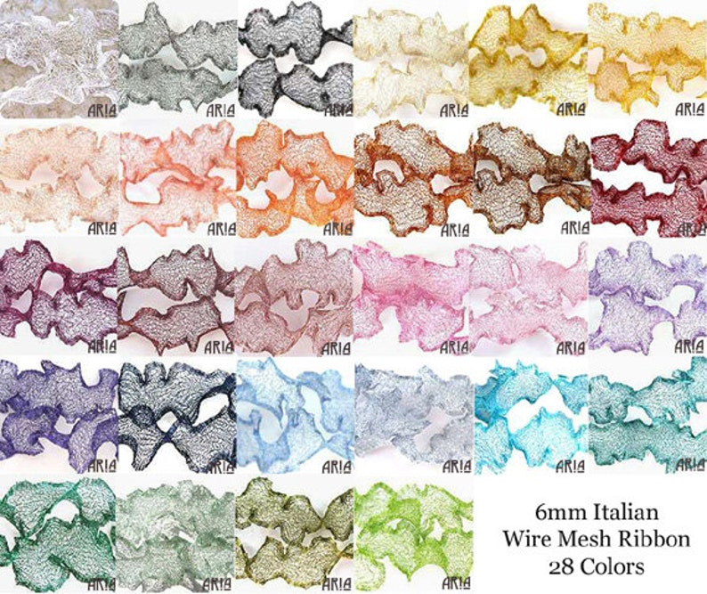 ITALIAN WIRE MESH: Mix and Match Five Colors 9 feet / 108 image 0