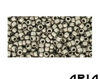 ANTIQUE SILVER MATTE (566): 15/o Toho Japanese Seed Beads (10 grams)