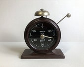 Vintage Soviet Timer Jantar, Russian Mechanical Photographic Timer, USSR the 1950s vintage stopwatch, Carbolite case clock Working condition