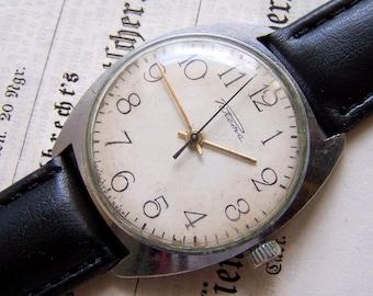 Soviet Watch Raketa Rocket Russian Men's Mechanical Wristwatch USSR