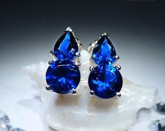 Audrey. Handmade Sapphire Earrings. PREMIUM FREE SHIPPING