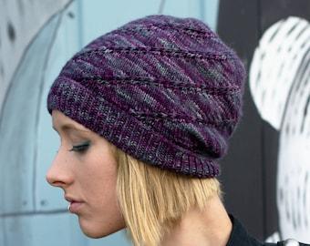 20f16945c67 Mulinello slouchy Hat PDF knitting pattern (instructions)