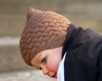 7b7098c8b05 Brownie pixie chullo Hat PDF knitting pattern (instructions)