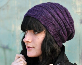 Alveare slouchy Hat PDF knitting pattern (instructions)