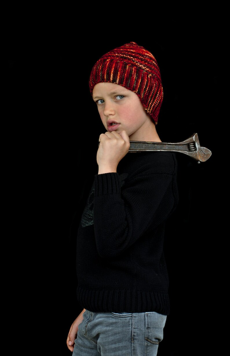 c97a35d7bf0 Swinton helmet style Hat PDF knitting pattern instructions