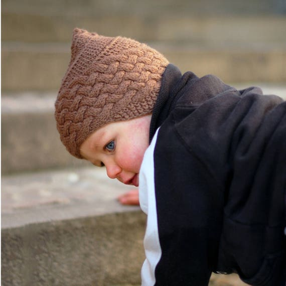 Brownie Pixie Chullo Hat Pdf Knitting Pattern Instructions Etsy