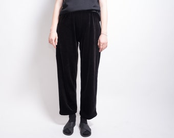 Vintage Velvet Black Stretch Trouser Pant