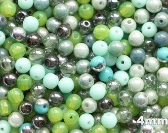 25 6 mm Tchèque Verre Firepolish perles Neon-Bleu électrique
