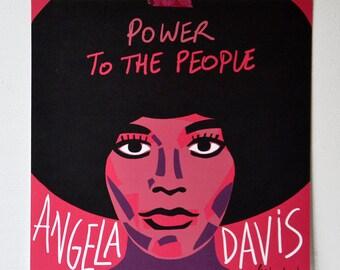Angela Davis / 30x30 poster