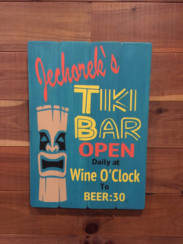 Tiki-Bar Schild personalisierte Strandbar Zeichen Custom | Etsy
