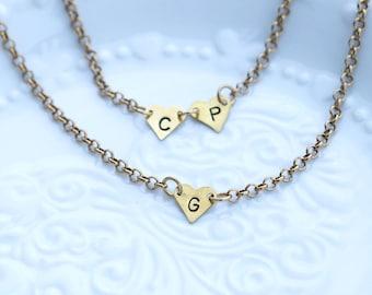 Bracciale con iniziale, Bracciale con cuore, Bracciale cuore e lettere, lettere nome, Bracciale con nome personalizzato, nome figli