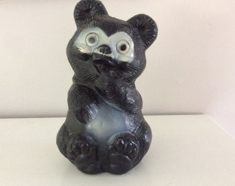 Vintage CHILD BANK.  Large Black Bear plastic bank.  Great condition. 1970 Reliable Canada.