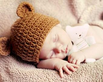BABY Brown Teddy Bear Hat ac8f574ae4cc