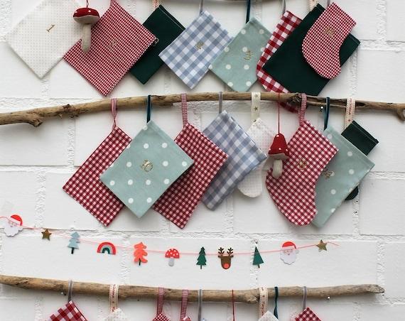 Advent Calendar, Advent Calendar Kids, Advent Calendar to Fill, Advent Calendar Bags, Advent Calendar Fabric, Christmas