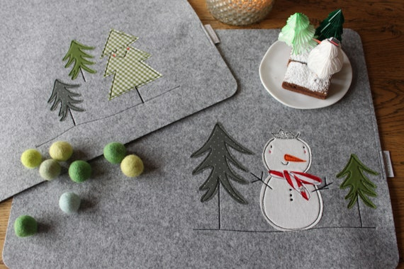 Placemat Placemat Placemat Set Christmas Winter Christmas Gift Christmas Decoration xmas Milla Louise