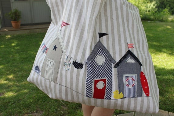 Beach bag shopper shopping bag beach bag bath bag bag summer bag swimsuit bag holiday big Tascheb