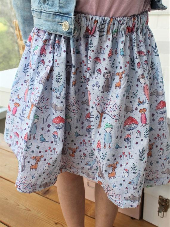 Skirt, Summer Skirt, Lille fabric, Summer skirt, Fairy, Flowers, Spring, Confetti, Skirt Girl, Summer, Cotton Skirt, Rock Birthday