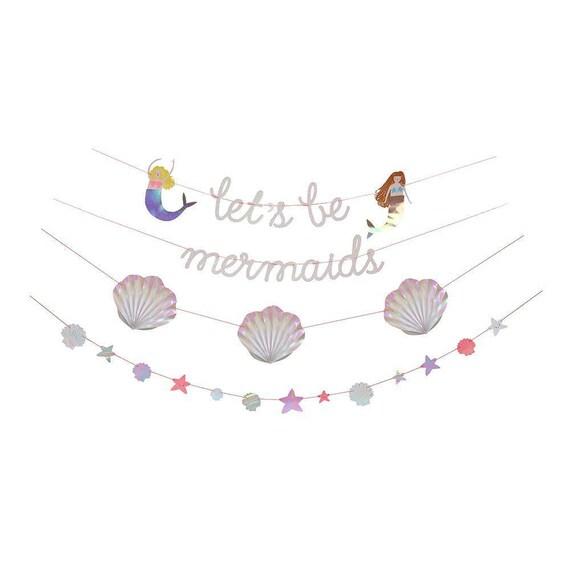 Mermaid Garland Let's be mermaids by Meri Meri