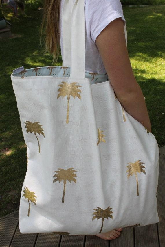 Beach Bag Shopper Shopping bag palm bag