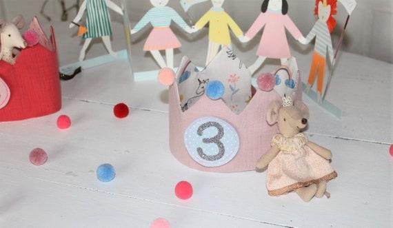 Birthday crown, birthday crown girl, birthday crown sewn, birthday crown muslin, muslin crown